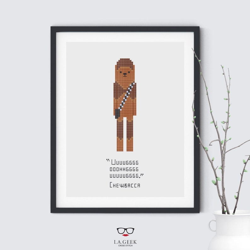 Chewbacca Quote  Star Wars  Cross Stitch Pattern  Instant image 0