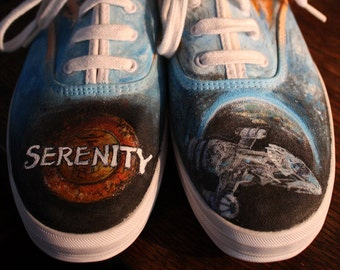 61f52e806bd1 SERENITY and FIREFLY handpainted shoes ANY size Ladies Mens sneakers shoes
