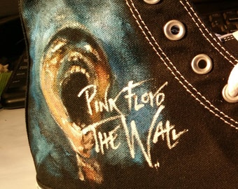 b50fae069fe1 Pink Floyd Converse Shoes The Wall Animals Dark side of the Moon Custom  Animals Time