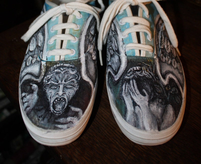 e750df5af8 Custom Painted Doctor Who shoes Don t Blink Order Any