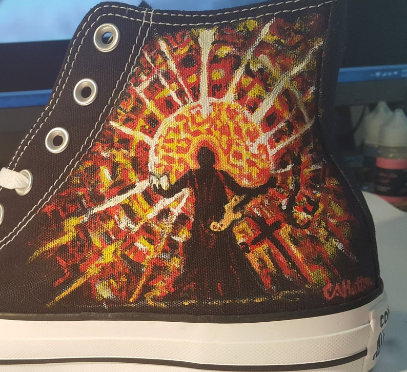 bc4f9b7cbc576e Queens of the Stone Age Shoes Converse Hand Painted Artwork