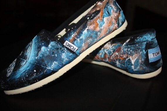 b537ff938676c Serenity Firefly Toms Shoes Sneakers Hand painted Incredibly detailed Toms  or upgrade to Converse Vans Keds men's women's
