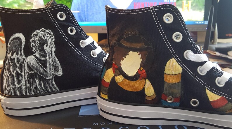 49eafecaa7 DOCTOR WHO Shoes Hand painted Converse River Song Space Tom