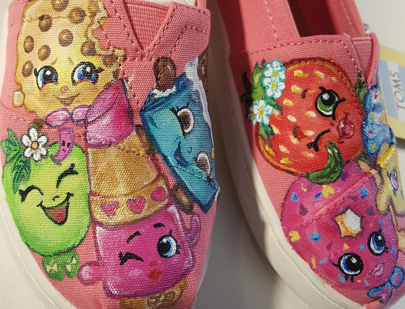 177bc1c92aabb9 Shopkins darling hand painted Shoes Converse Toms Vans 7