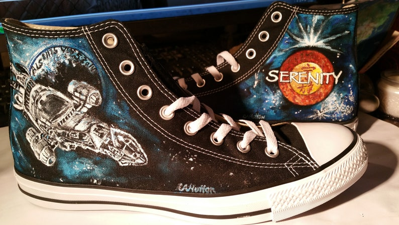 48f6138ff6f0f SERENITY and FIREFLY handpainted shoes ANY size Ladies Mens sneakers shoes