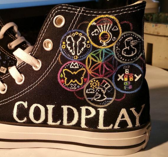 Coldplay Converse tête pleine de rêves sur mesure peint chaussures Sneakers Rush de sang Parachutes Chris Martin