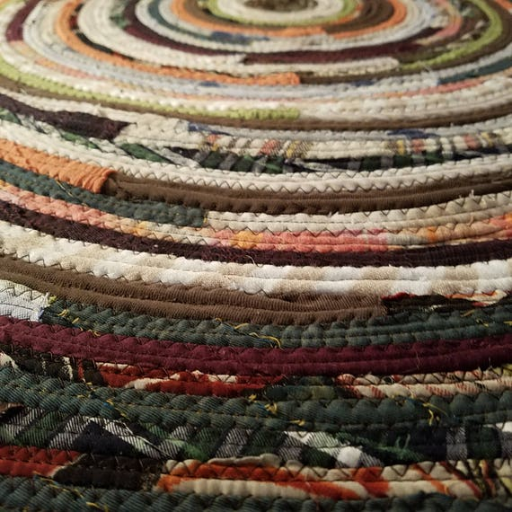 2' Colorful Round Rag Rug Made To Order YOU Choose