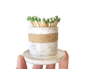 In stock ready to ship match striker matches holder or succulent planter