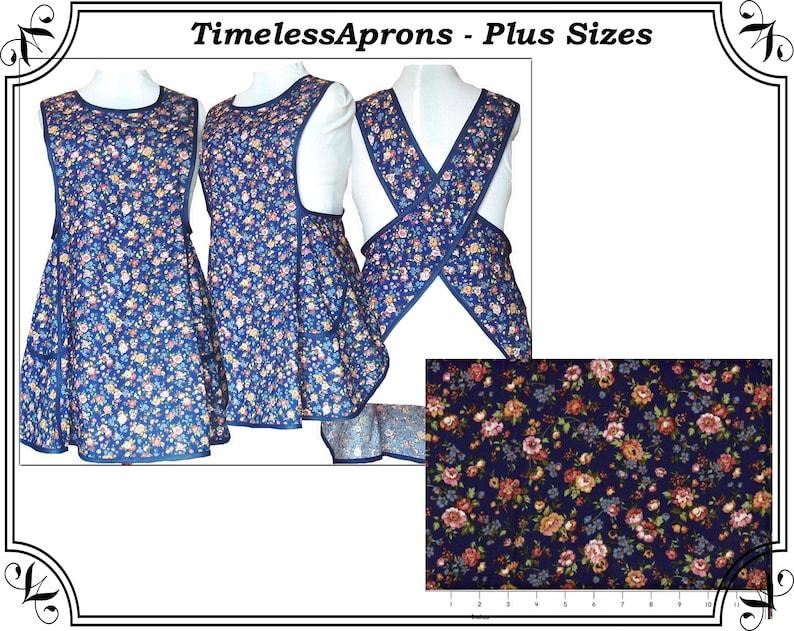 Plus size Apron Cross back apron No Tie Apron  Country image 0