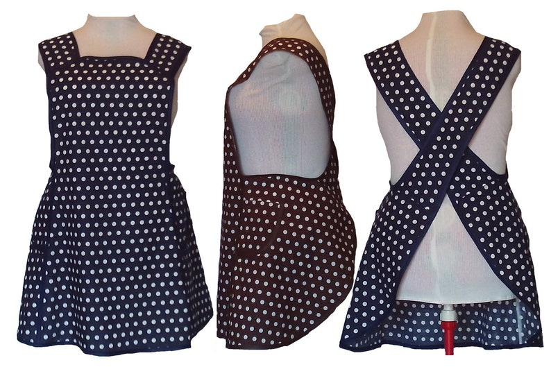 Plus Size Apron Women's Apron  Black Navy or Brown with image 0