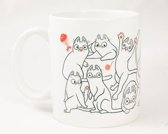 Cat Invasion coffee / tea mug