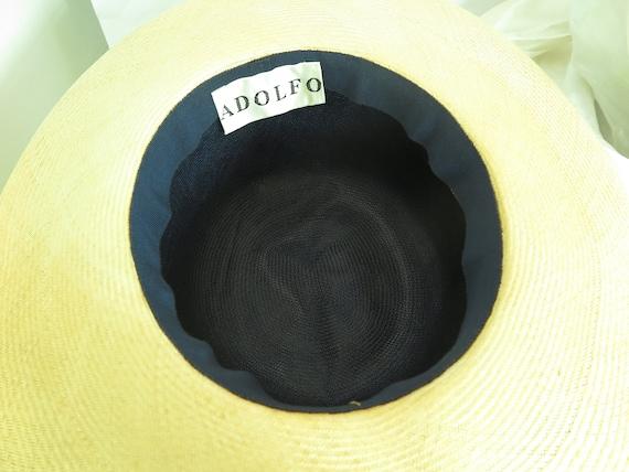 Vintage straw hat, woman's blue summer 1970s hat,… - image 10