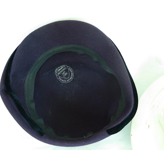 Vintage purple hat, woman's 1940s tilt, rhineston… - image 10