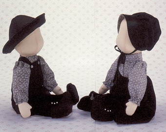 Poly and Pete Easy To Sew Amish or Country style cloth dolls from Carolee  Creations SewSweet Dolls