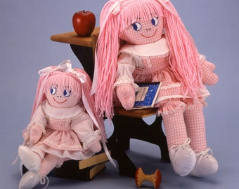 """Miss Pat 24"""" and 17"""" Little Miss Pat Set, Easy to sew doll patterns from Carolee Creations"""