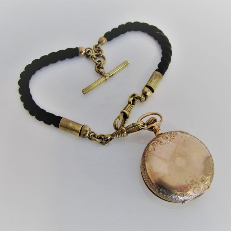 3185fea60cad7 Victorian Braided Hair Thick Doublet Watch Chain. Antique Rolled Gold  Double Albert Vest Pocket Watch Chain. Mourning English Memento Mori