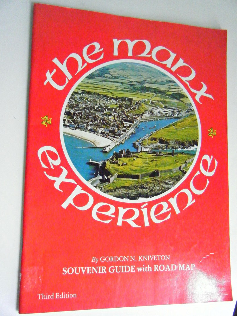 The Manx Experience travel brochure booklet Isle of Man travel collectible  souvenir guide with road map Ireland Great Britain