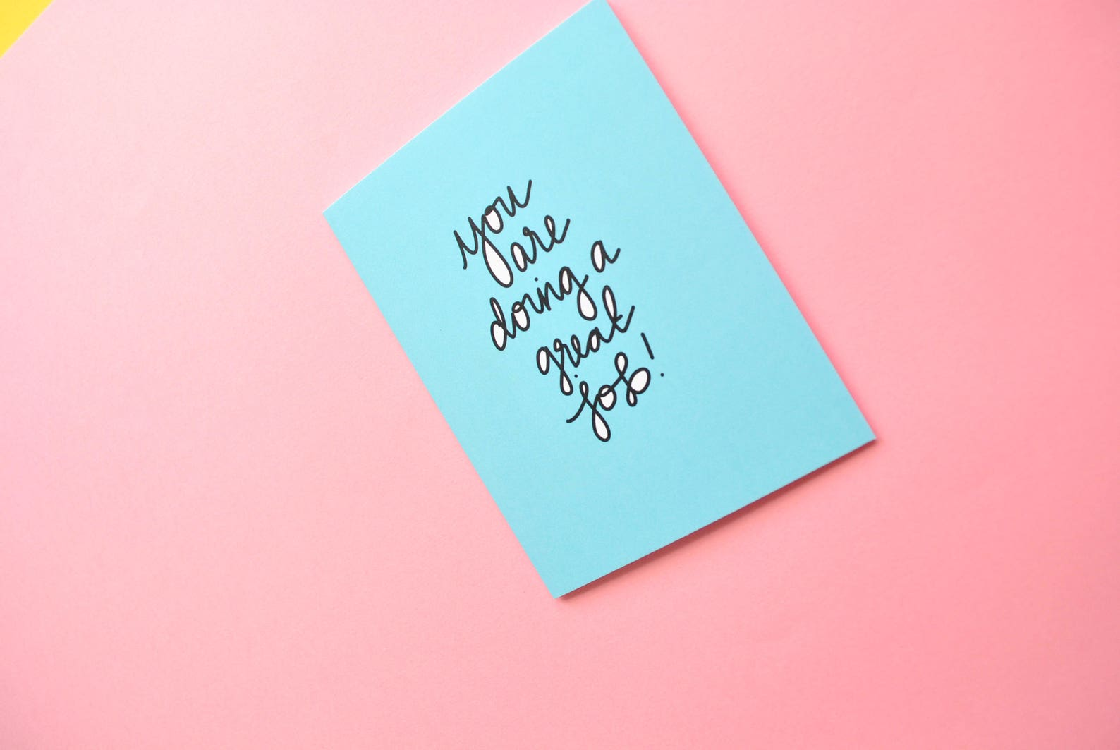 you are doing a great job greeting card everyday greeting