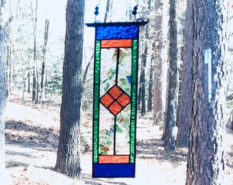 Glittering New stained glass panel gift art and collectibles stained glass window suncatcher glass art