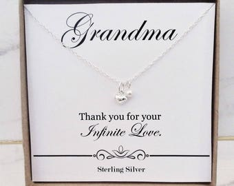 Gift For Grandma Necklace Birthday Grandmother From Granddaughter Grandson Present Ideas