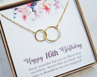 Sweet 16 Gift 16s For Niece Necklace You Are Braver Than Believe 16th Birthday Jewelry Ideas