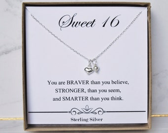 Gift For Niece Necklace Sterling Silver Present You Are Braver Than Believe Birthday Graduation Sweet 16 Jewelry Cute