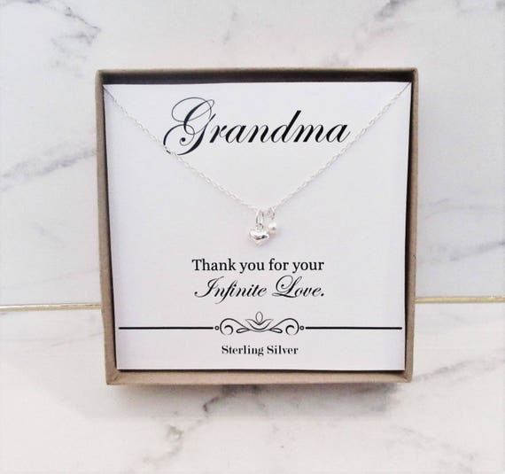 Gift For Grandma Necklace Birthday