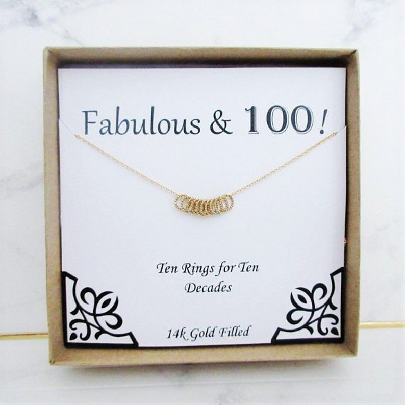 100th Birthday Gift For Her Necklace Grandmother Gifts