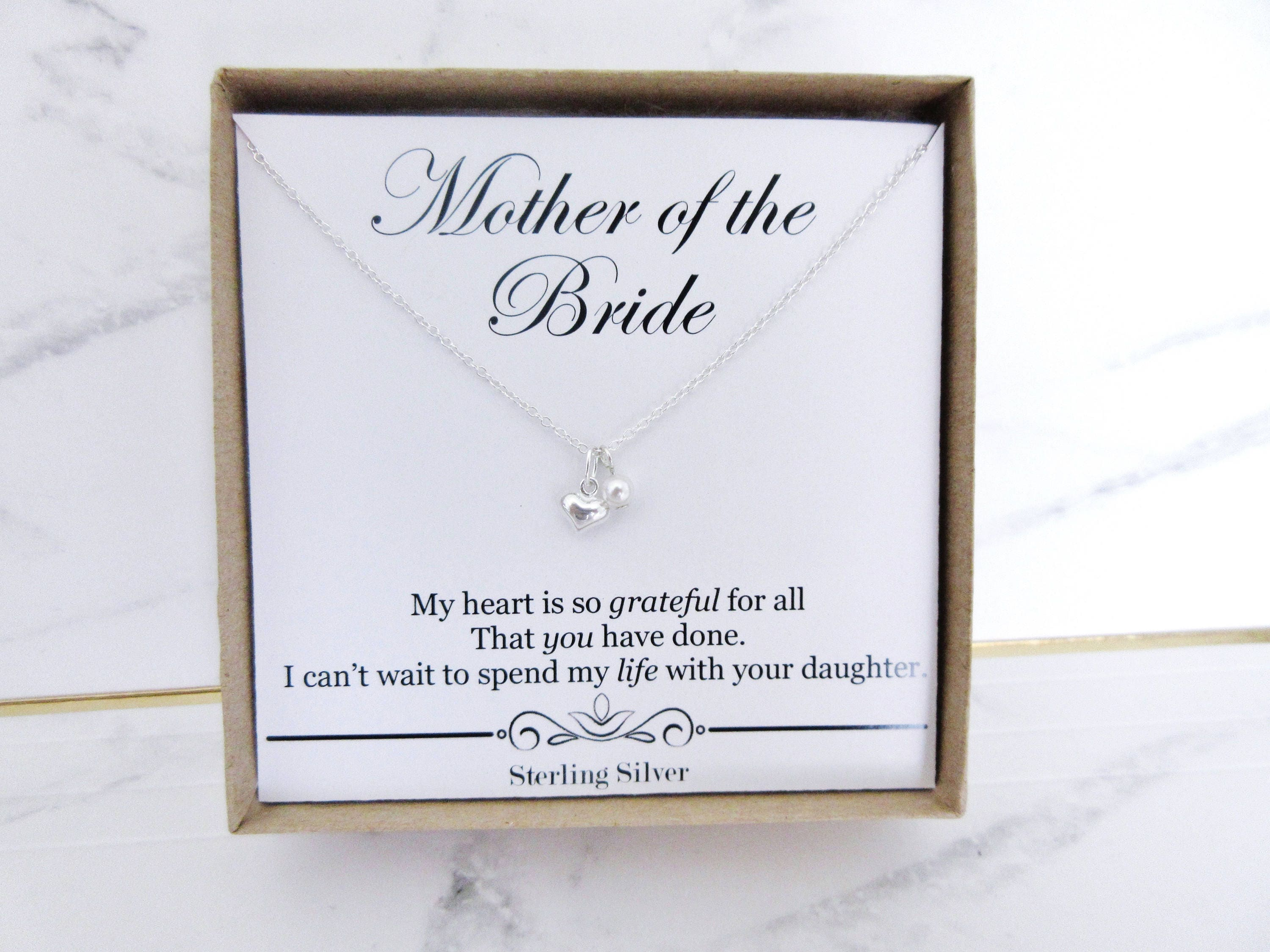 mother of the bride necklace gift mother of the bride etsy