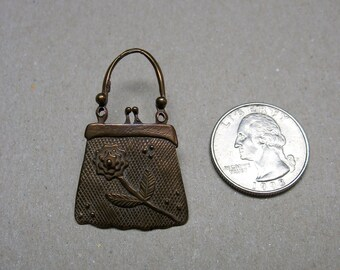 8db29a7d7314 A Vintage Hand Crafted Artist Signed Copper Purse Pin Brooch