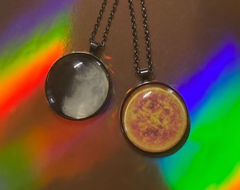 Sun and Moon necklace set