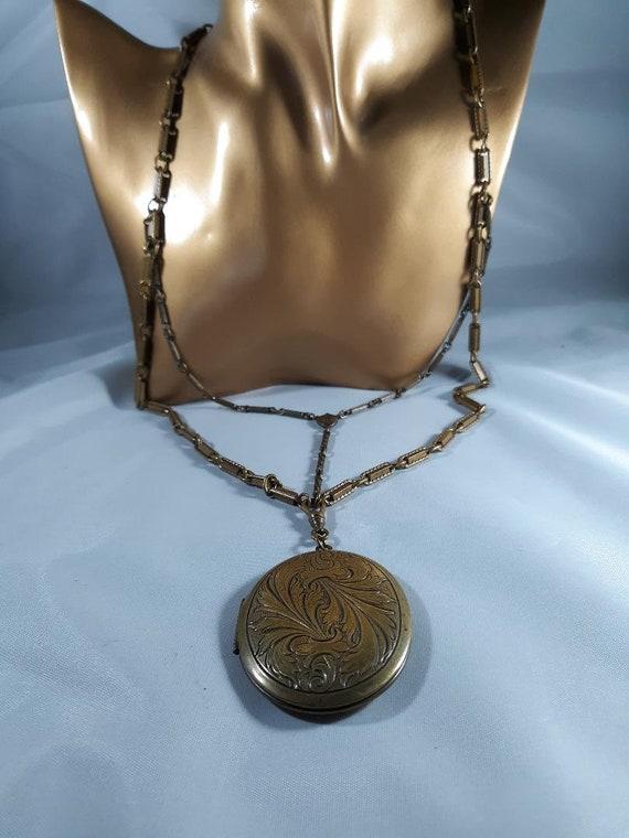 1940s Ornate locket ..memento mori