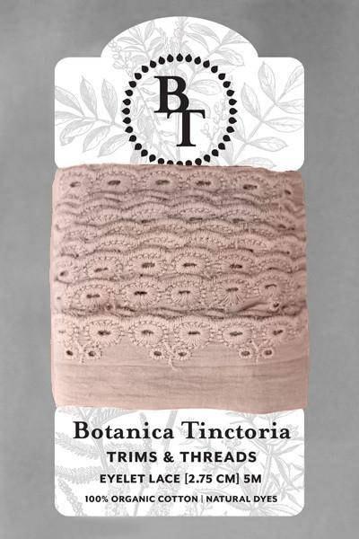 Naturellement teint teint Naturellement bio coton dentelle, 2,75 cm de large - lavande * vendu par la carte de 5m * c7342f