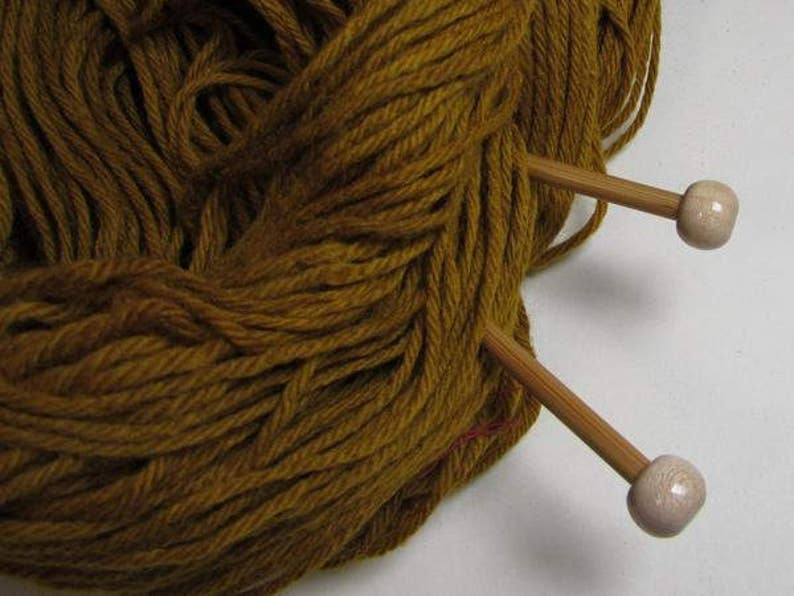 Golden Yellow Naturally Dyed Wool Yarn