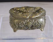 vintage Golden Hearts Box made in Japan