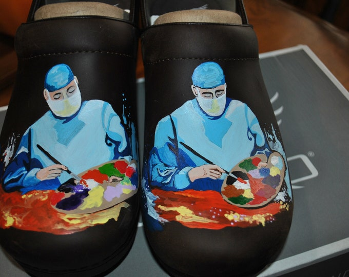 Custom Plastic Surgeon shoes - Art of Medicine -  sorry sold just a sample  The cost of the shoes are not included in the price.