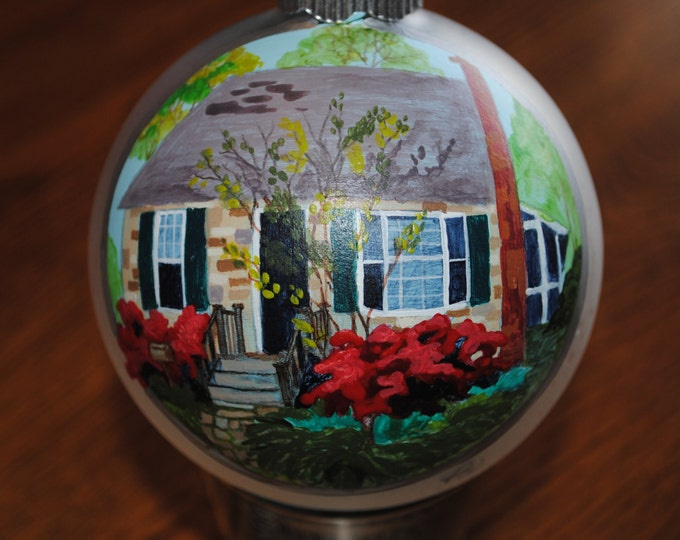 Home Sweet Home Custom Hand Painted Ornament - sample sold