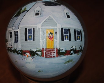 New Custom Hand Painted Home Ornament makes a wonderful christmas present - sold