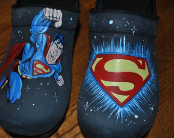 Custom superman Nurses shoes... so sorry just a sample of what can be done.