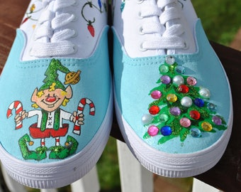 FOR SALE Christmas Shoes Santa's Elf Shoes size 9.5 for sale true to size READY to Ship