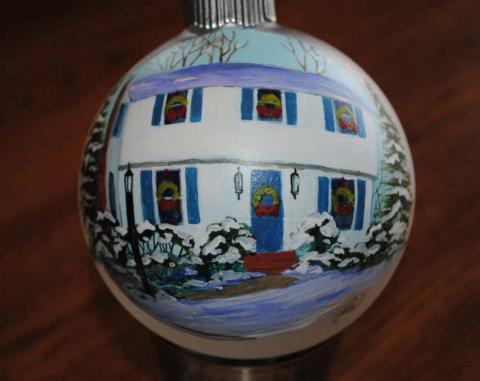 Custom New Home ornament done from picture - Sample SOLD