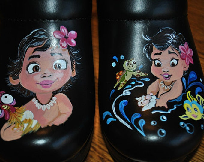 Custom Hand Painted Moana shoes I will buy the dansko blk size 37