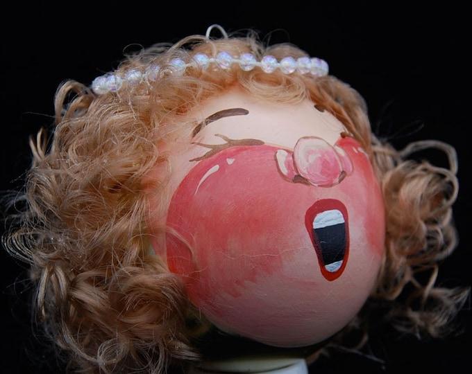 Handpainted Blonde Angel-  Anne