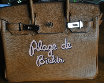 Custom Hand Painted Birkin Bag Plage de Birkin  french for Beach Birkin - customer provided the bag - sold