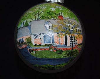 Custom Hand Painted Home Ornament done from Picture for a Unique Christmas or Home Warming gift idea    - sold