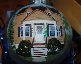 Hand Painted Custom Home Ornament done from Picture -sold