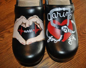 New ICU Nursing shoes nursing hands, caring for life.  sorry sold, shoes included in the price
