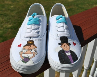 CUSTOM ORDER for Hand Painted Sneakers