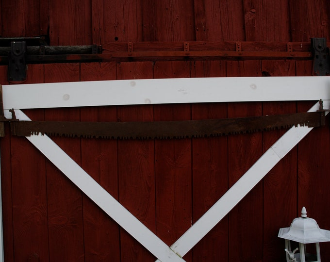 Unique  Vintage Antique 5 foot 2 Handle Saw