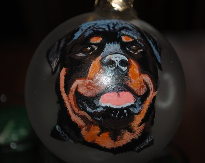 For Sale Rottie portrait I can do your dog or cat just email me a picture